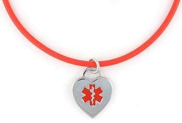 Cherry Rubber Medical Necklace