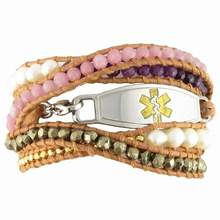 Daisy Wrap Beaded Medical Bracelet
