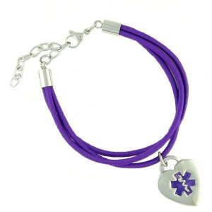 "Jamie ""Purple"" Medical Charm Bracelets"