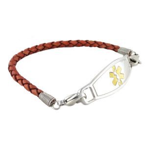 Leather Medical ID Bracelet