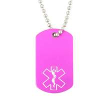 Pink Mini Medical Dog Tag