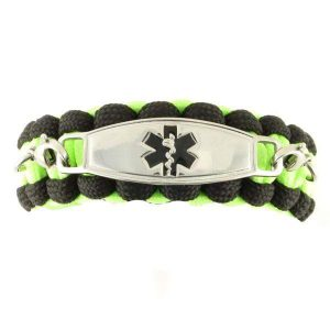 Whistle Paracord Medical Bracelet Glow in the Dark
